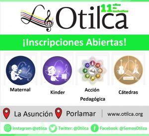 Maternal musical, Kinder Musical, Programa de Acción Pedagógica, Cátedras de instrumentos musicales, musicoterapia